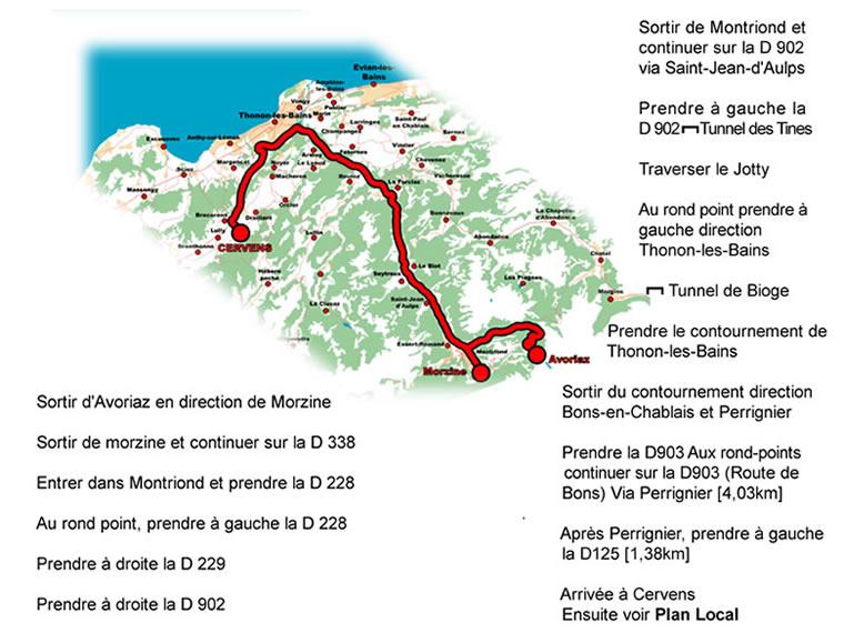 Plan depuis Morzine-Avoriaz