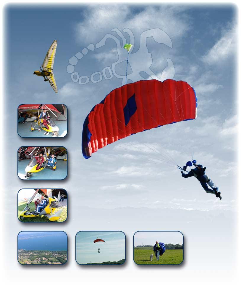 Saut en parachute depuis un ULM